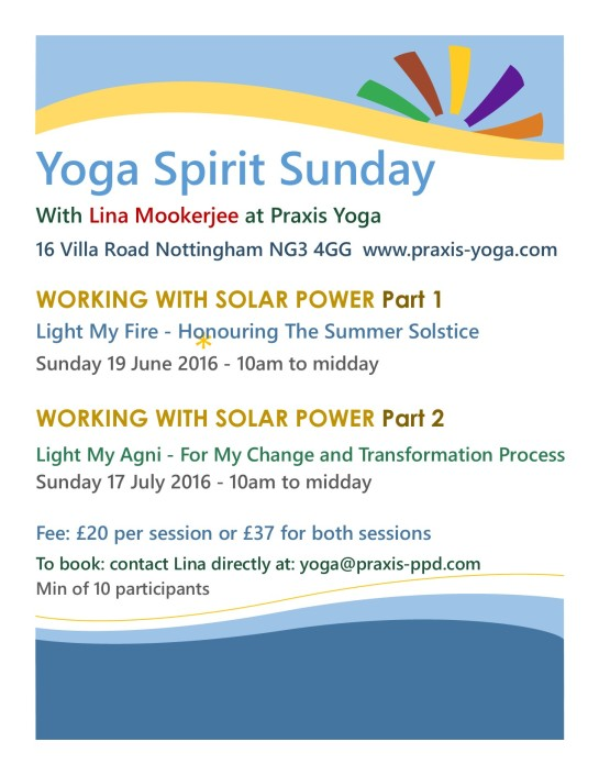 Yoga Spirit Sunday Summer 2016 Sessions