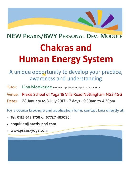 Praxis BWY Chakra Module 2017 Advert