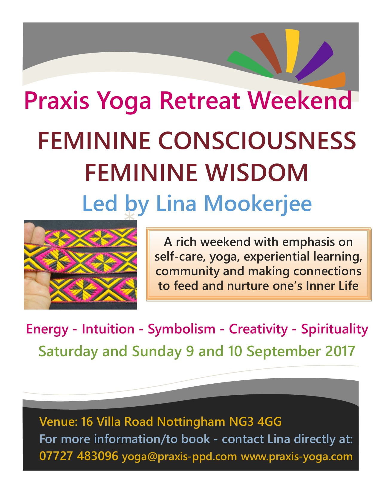 Praxis Yoga Summer 2017 Retreat Weekend Poster